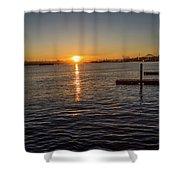 West Seattle Sunrise Shower Curtain