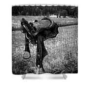 Western Saddle Shower Curtain