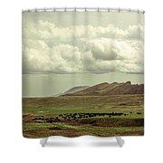 Western Storm Shower Curtain