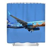 Westjet Boeing 737-8ct C-gwsv Frozen Phoenix Sky Harbor January 29 2016 Shower Curtain