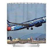 Westjet Boeing 737-8ct C-gwsz Magic Plane Phoenix Sky Harbor January 22 2016 Shower Curtain