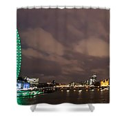 Westminster And The London Eye Shower Curtain