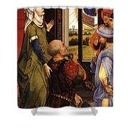 Weyden Bladelin Triptych    Shower Curtain