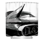 When Fins Were Fashionable Shower Curtain