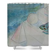 When Time Began Shower Curtain