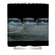 Whiskey Jars In A Crate Shower Curtain