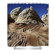 White Pockets 2358 Shower Curtain