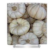 White Pumpkins Shower Curtain