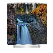 White River Falls State Park Shower Curtain
