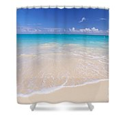 White Sand Beach Shower Curtain