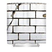 White Tiles Shower Curtain