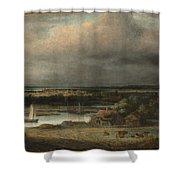 Wide River Landscape Shower Curtain