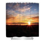 Willard Bay Sunset Shower Curtain