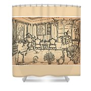 William Tell And Leopold I Shower Curtain