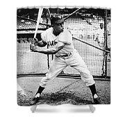Willie Mays (1931- ) Shower Curtain by Granger