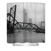 Willis Tower In Fog Shower Curtain