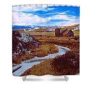 Willow Creek Barn Shower Curtain
