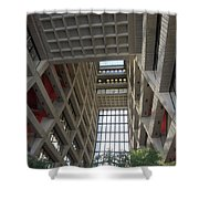 Wilson Hall At Fermilab - Interior Shower Curtain