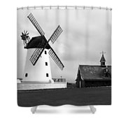 Windmill At Lytham St. Annes - England Shower Curtain