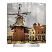 Windmill In The Clouds Shower Curtain
