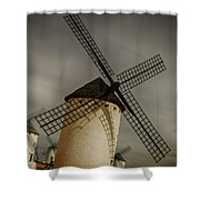 Windmills At Campo De Criptana Shower Curtain