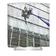 Window Cleaning Shower Curtain