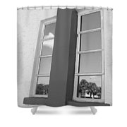 Window T Glass Shower Curtain