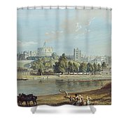Windsor Castle From The Eton Shore Shower Curtain
