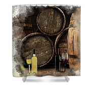 Wine For Life Shower Curtain