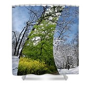 Winter And Summer Shower Curtain