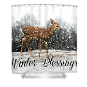 Winter Blessings Shower Curtain