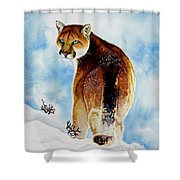 Winter Cougar Shower Curtain