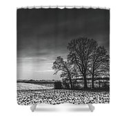 Winter Fields Shower Curtain