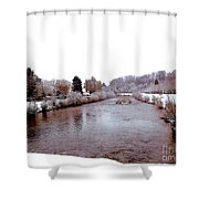 Winter In England  Shower Curtain