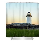 Winter Island Lighthouse, Salem Ma Shower Curtain