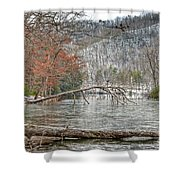 Winter Landscape At Hungry Mother State Park Shower Curtain