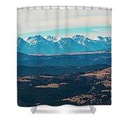 Winter Sangre De Cristo Mountains Shower Curtain