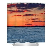 Winter Sun Has Set Shower Curtain