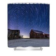 Winter Vortex Shower Curtain