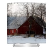 Winter's Blessing Shower Curtain