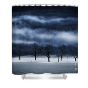 Winter's Passion Shower Curtain