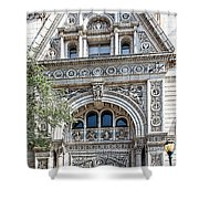 Witherspoon Building Shower Curtain
