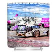 Wizz Air Airbus A321 Shower Curtain
