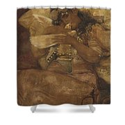Woman With Dove Shower Curtain