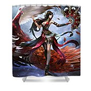 Women Warrior Shower Curtain
