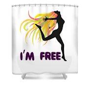 Womens Clothluxe Democracy Freedom Tee Shirt Gift Shower Curtain