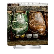 Wooden Shoes Shower Curtain