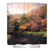 Woodland River Shower Curtain