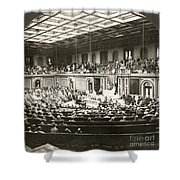 Woodrow Wilson (1856-1924) Shower Curtain