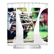 Word Nyc Parade In New York. Shower Curtain